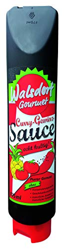 Walsdorf Gourmet Curry Gewürz Sauce – Chilisauce – Currysauce – Barbecue Sauce – Gewürzketchup - Curryketchup - 875 ml
