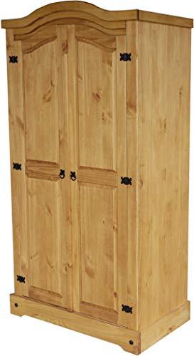 Kleiderschrank 2-türig Honig Rio Classico Schlafzimmer Holz Pinie Massivholz Echtholz Farbe wählbar Brasilmöbel