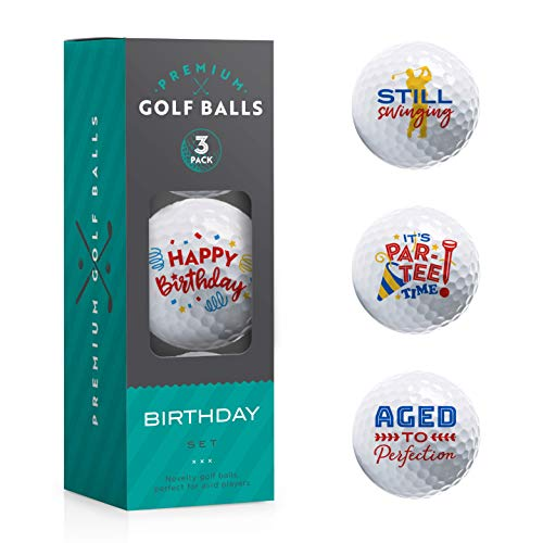 Happy Birthday Gifts - Novelty Golf Ball 3 Pack - Great Gift for...