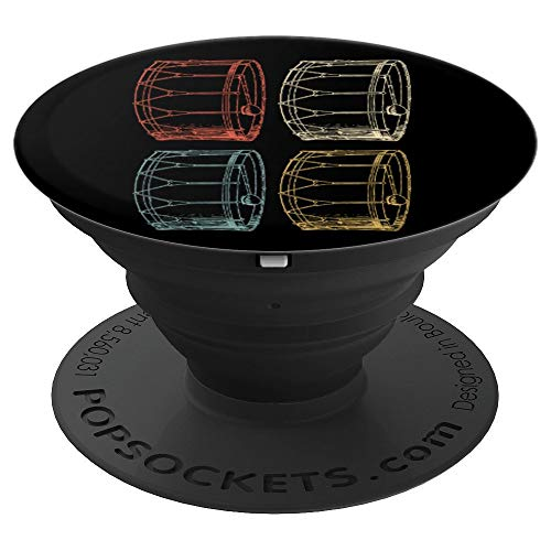 Vintage Marching Bass Drum Retro Gifts PopSockets Grip and Stand for Phones and Tablets