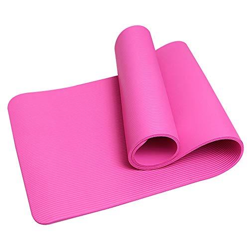 KirinSport Gymnastikmatte,Yogamatte Pilates Fitness Sportmatte Yoga Matte mit Gurte und Netzbeutel Rosa