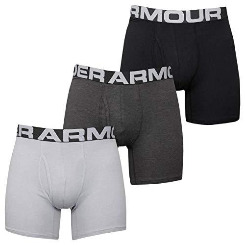 Under Armour Charged Cotton 6 En Un Pack de 3 bóxers Ajustados Hombre (Pack de 3)