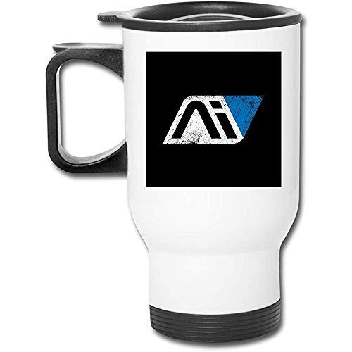 QiangQ copa de coche Mass Effect Andromeda Initiative 16 Oz Stainless Tumbler Double Wall Vacuum Coffee Mug with Splash Proof Lid
