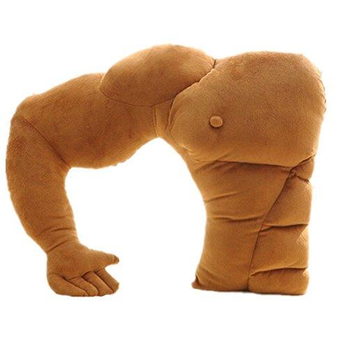 Kenmont Muscle Man Boyfriend Arm's Support Oreillers/Girlfriend Oreillers/Animal en Peluche oreillers en Peluche Peluches président Voiture Coussin (Muscle Man Pillow)
