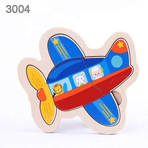 N / A Juguete para bebés de Madera Tablero de Rompecabezas Colorido vehículo Animal Fruta Forma de Dibujos Animados Juguete para niños Rompecabezas bebé niño niña