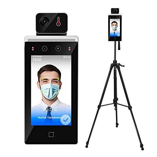 Face Recognition Temperature Measurement System, Infrared Body Temperature Kiosk Thermal Scanner Access Control Punch Card Machine, All-in-One Machine, OEM Hikvisio DS-K1TA70MI-T(Stand Included)