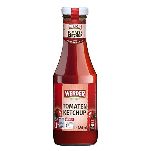 6x Werder Tomatenketchup 450 ml (2,7 l)