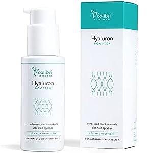 Hyaluronsäure Serum hochdosiert - Natürliche Hyaluron Anti-Aging Creme für das Gesicht - 50ml von colibri cosmetics - Naturkosmetik Made in Germany