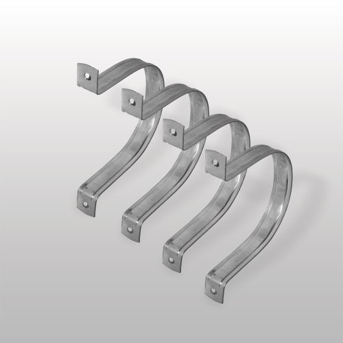 Wall Hanger - 4 ' METAL Hose Clamp - 4 PACK by Peachtree Woodworking - PW6100
