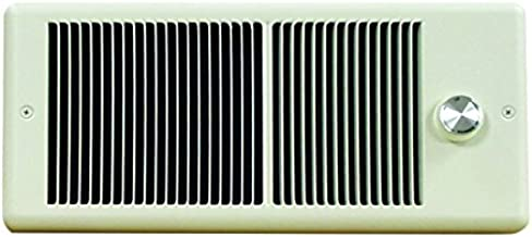 TPI HF4315T2RPW Low Profile Fan Forced Wall Heater, Double Pole Built-in Thermostat, 240/208 Volts, 1500/1124 Watts, All M...