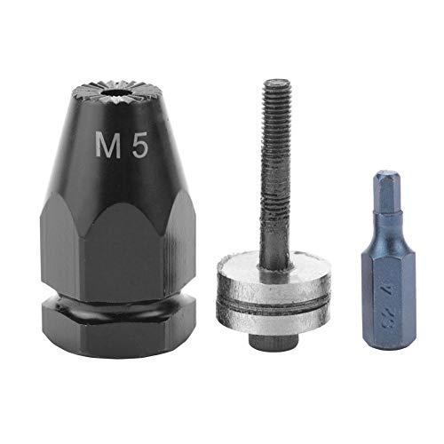 【4月の贈り物】リベットナットヘッドキット、M5 M6 M8 M10空気式プルセッターエアリベットナットガン空気圧リベッター用リベットナットヘッド(Hex straight shank-M5)