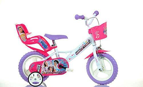giordanoshop Bicicletta per Bambina 12' Eva 1 Freno Miracle Tunes Bianca e Viola