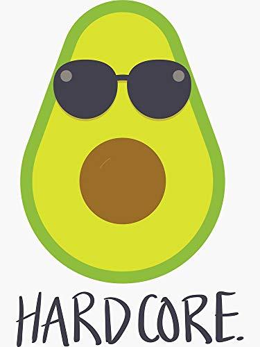 Hardcore. Avocado Sticker - Sticker Graphic - Auto, Wall, Laptop, Cell, Truck Sticker for Windows, Cars, Trucks
