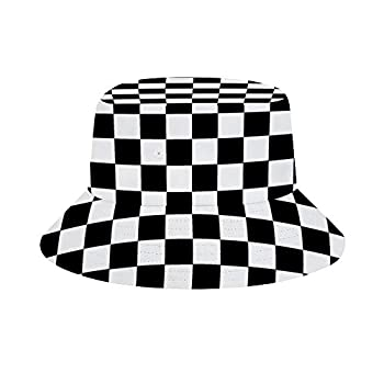 Women Men Boys Girls Breathable Checkerboard Bucket Hat Summer UPF 50+ Sun Protection Boonie Cap Packable Fisherman Hat