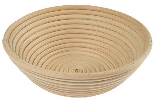 Gärkorb aus Peddigrohr, ►Für Brote bis 1500 g, Rund ►Weichere Teige, Gleichmäßigere Brotform, ø 25 cm, 8,5 cm hoch