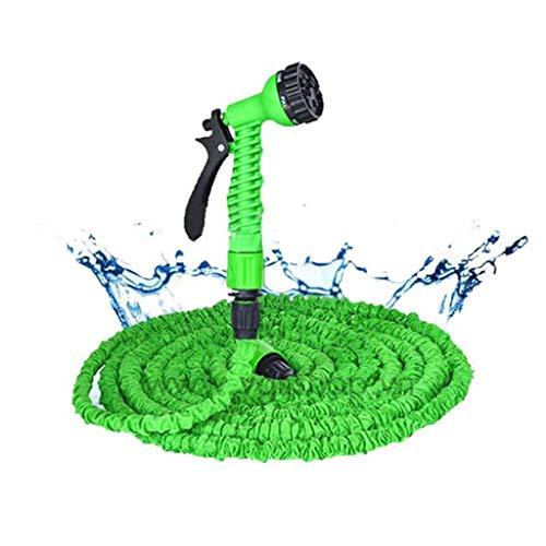 Release Tuinslang expandeerbare magische flexibele waterslang EU slang plastic slangen pijp met spuitpistool aan het waterwassen van water wassen (Color : Green, Size : 100ft)