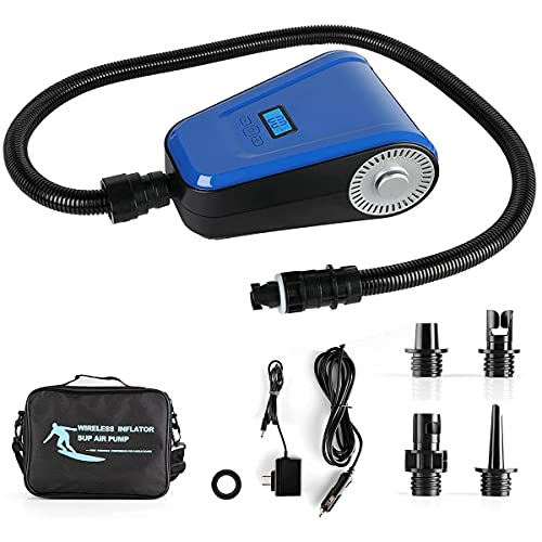 Ralph Digtal Electric Sup Air Pump Conmpresser,0-20 Adjustable PSI,12V DC Car Connection,2500mAh3 Bettery, with Auto-Off Function Portable Inflator for Inflatable,Paddle Board,Kayak,Air Mattress.
