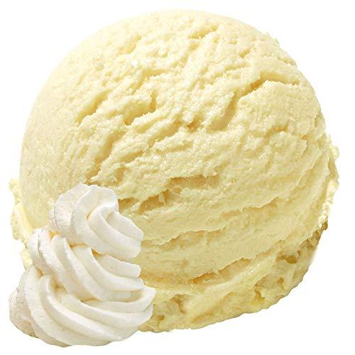 1 Kg Vanille Sahne Geschmack Eispulver VEGAN - OHNE ZUCKER - LAKTOSEFREI - GLUTENFREI - FETTARM, auch für Diabetiker Milcheis Softeispulver Speiseeispulver Gino Gelati