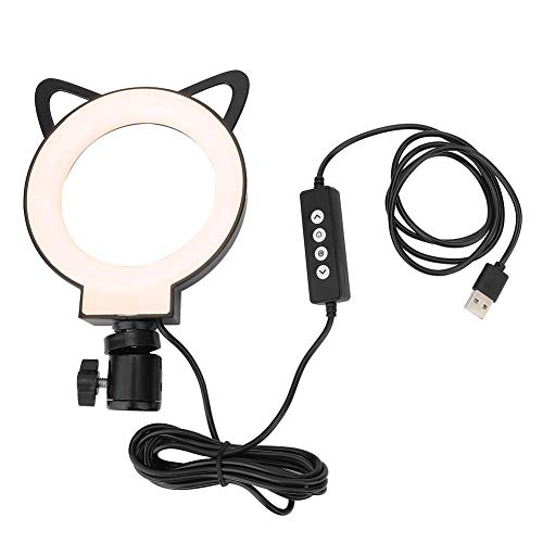 Dimbare LED Ring Light Kit, LED Dimbaar Right Fill Light 3000-6000K Vloerlamp voor Selfie Live Stream Make-up YouTube, Selfie en Fotograpy