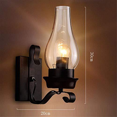 Wandleuchte, Außenleuchte Wandleuchte Wohnzimmer Schlafzimmer Treppe Schlafzimmer Nachtgang Lichter Bar Lichter, Massivholz Lampensäule, mit LED-Leuchten