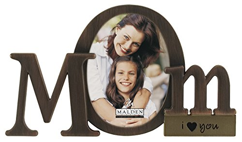 Malden International Designs Bronze Script Mom Picture Frame, 3.5x4.5, Bronze