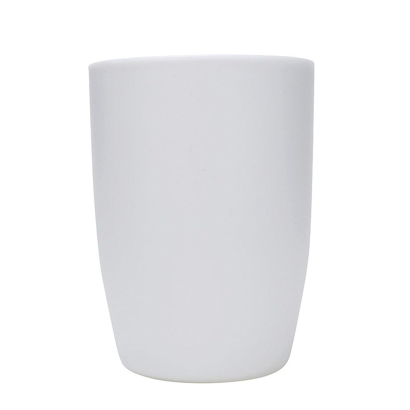 ラベル滞在予言するガーグルカップ 歯ブラシホルダー 歯ブラシスタンド ウォーターカップ バスルーム プラスチック (白)