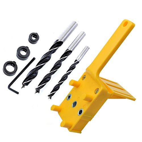 Holzbearbeitungswerkzeuge Dübel Jig 6/8 / 10mm Handtaschenloch Jig-Set Holzverarbeitung Holzdübel Selbstzentrieren Puncher Bohrführung Locator Jig für Zuhause