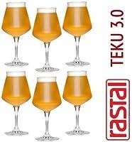 Boîte de 6 verres Craft Beer dégustations - Teku Diamètre: 9,50 cm. Hauteur: 19.60 cm. Matériel: Superstrong cristallin Made in Italy