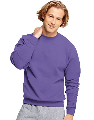 Hanes ComfortBlend EcoSmart Crew Sweatshirt,Purple, X-Large