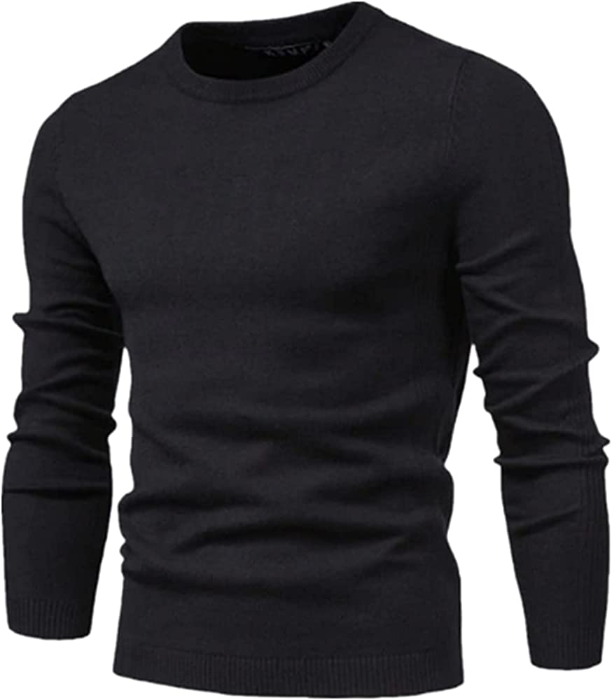 NP Winter Thickness Men Color Long Sleeve Slim Sweaters Men Men;s Sweater Pull