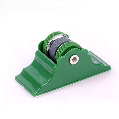 Aiguiseur manuel, Mini Portable Broyage Cercle aiguiseur en pierre, abrasimètre avec la base deux roues Cuisine affilage Accessoires, Vert