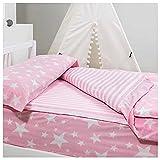 COTTON ARTean Saco nordico con Relleno NORDICO GIVETTE Pink para Cama 90 x 190/200 + 1 Funda de...