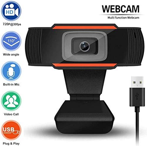 POMILE 720P USB HD zakelijke webcam met ingebouwde microfoon ruisonderdrukking scherpstellen instelbare camera voor zakelijk kantoor, videoconferentie, extern werk, spraakoproepen