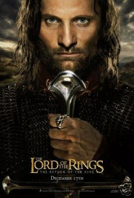 Lord of The Rings (Aragorn) Return of The King (2003) Double Sided Original Movie Poster 27x40