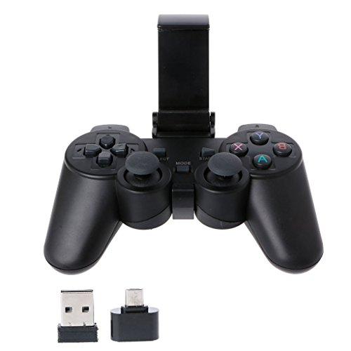 JENOR 2.4G Wireless Gaming Joypad Controller Gamepad con Micro USB OTG Convertidor Adaptador de Teléfono Soporte Compatible para PS3 Android Phone Tablet PC Smart TV Box