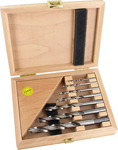 Famag 1591.507 - Set di punte elicoidali per legno, 7 pezzi, diametro 3,4,5,6,8,10,12 mm, in scatola di legno