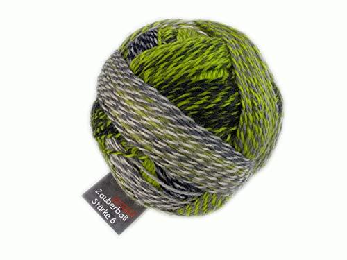 Schoppel Zauberball Stärke 6 Fb. 2204 Grüne Woche, 150g Sockenwolle 6-fädig (Sockengarn, Strumpfwolle 6fädig 6-Fach 6fach 6ply)