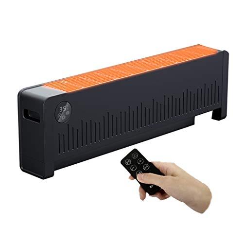 WXJ Calentador de Faldón Negro Calentador Doméstico Capaz de Secar Ropa Control Remoto Infrarrojo/Botón Giratorio Interruptor Temporizador de 24 Horas 220 V Adecuado para 20-30 20
