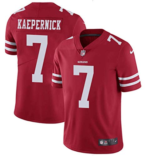 Herren T-Shirt American Football Uniform San Francisco 49ers Kaepernick #7 Football Trikots Gruby Tee Shirts Gr. L, Bild