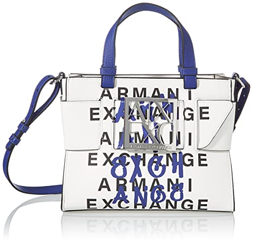 Armani Exchange, MEDIUM TOTE para Mujer, Blanco, Einheitsgröße