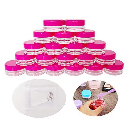 GreatforU 20 Pack 3g Jar, 3ml Jar, 20pcs BPA Free, Kosmetik Probe Container, Plastik, runde Topf...