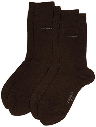 Camano Unisex 3642 Socken, 100 DEN, dunkelbraun (17), (Herstellergröße: 35/38) (2er Pack)