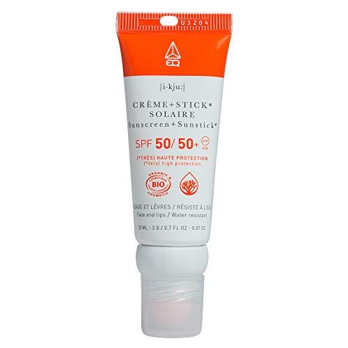 EQ Combi Stick 2 en 1 BIO - Crème Solaire et stick lèvres - Indice Protection SPF50 20 ml
