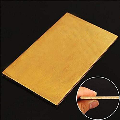 SALAKA 1 STÜCK Messingbleche 3mm x 60mm x 100mm Messingblech Platte Industrie DIY Experiment Blatt