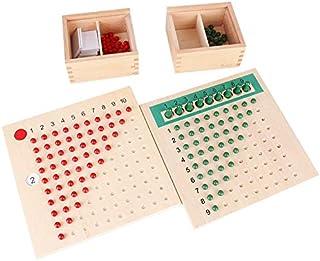 (日本知育玩具研究所) 数字計算板 掛け算 割り算 ボード モンテッソーリ教具 知育 学習 玩具 数字 計算 算数 おもちゃ 知育教具 幼児教育 知育教材 セット 木製 安心素材