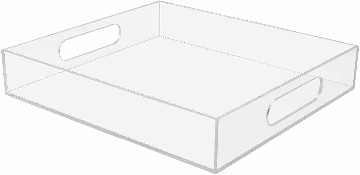 Acrylic Kitchen Serving Tray w El Paso Mall Handles for Max 63% OFF Ottoman Coffee-Table