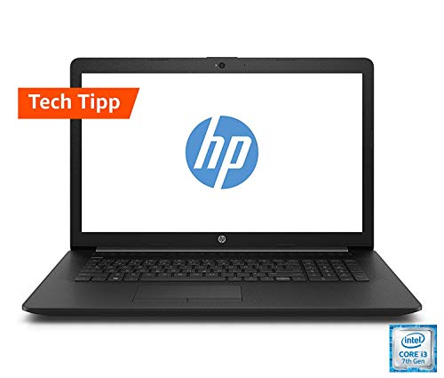 HP (17,3 Zoll HD+) Laptop (Intel Core i3-7020U, 8GB RAM, 1TB HDD + 128GB SSD, Intel HD Grafik, Windows 10) schwarz 17-by0204ng