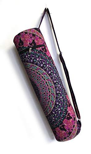 Sac de transport avec bandoulière pour tapis de yoga Motif château indien