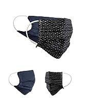 Pack double : cette offre contient deux masques identiques. Chaque masque est réversible et convient donc parfaitement à différentes tenues Taille réglable : Les masques sont à 2 plis, peuvent être étirés jusqu'à 18 cm de long et conviennent donc à d...