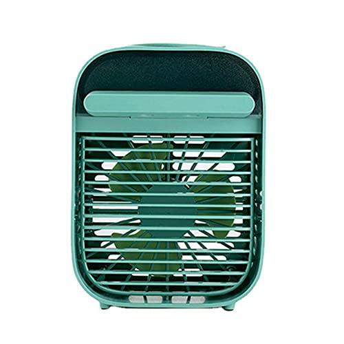 Ventilador de aire acondicionado portátil Mini ventilador de refrigeración Humidificador evaporativo Mesa de escritorio silenciosa Enfriador de aire para la oficina del coche en casa - Verde 122X170Mm